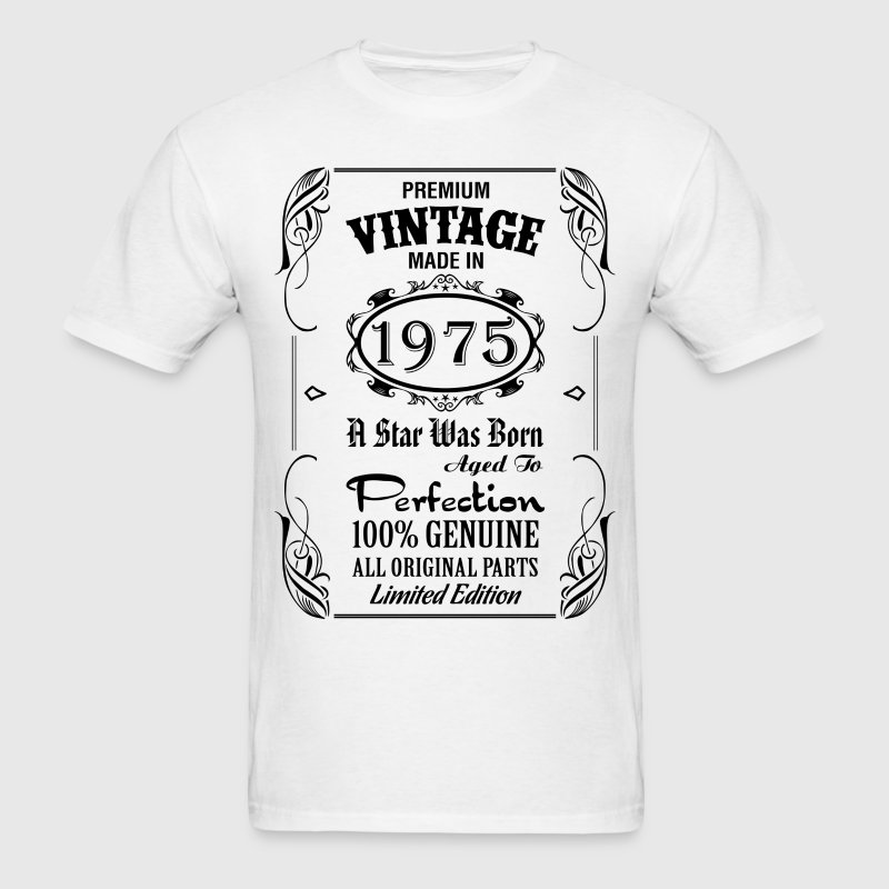 Premium Vintage Made In 1975 T-Shirts - Men's T-Shirt