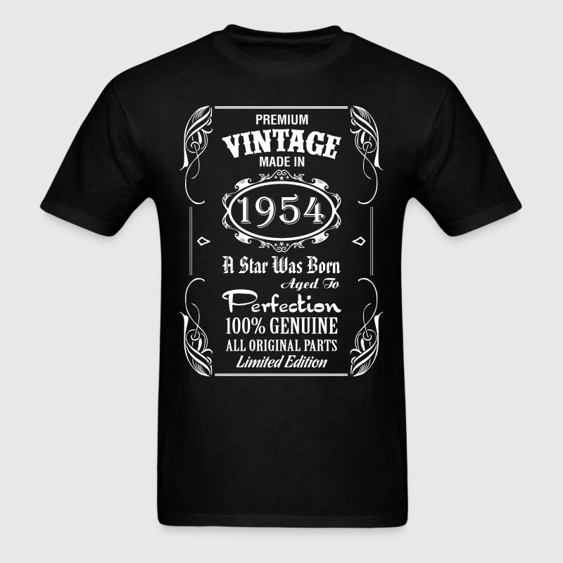 Premium Vintage Made In 1954 T-Shirt | Spreadshirt