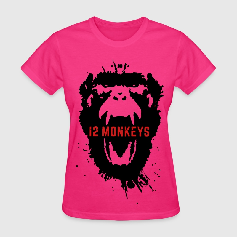 12 Monkeys Scream Stencil Tv Series 2015 Women's T-Shirts - Women's T-Shirt