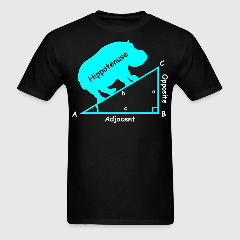 Hippotenuse Adjacent Opposite Triangle Geometry - Men's T-Shirt