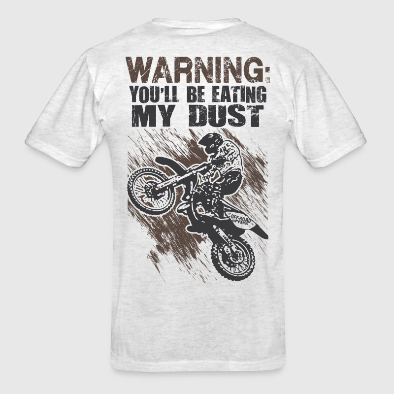 Motocross Dust Warning T-Shirts - Men's T-Shirt