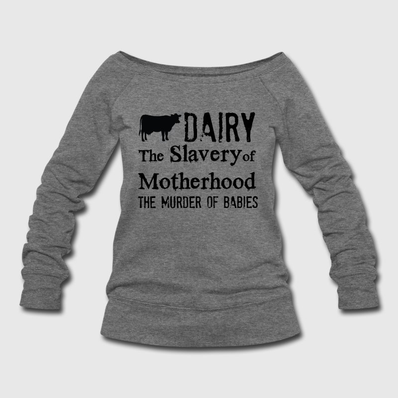 vegan liberation Long Sleeve Shirts - Women's Wideneck Sweatshirt