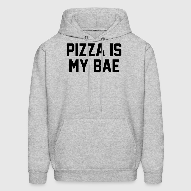 PIZZA IS MY BAE Hoodies - Men's Hoodie
