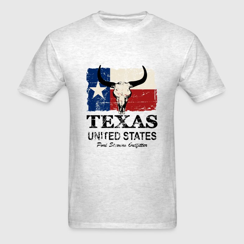 Texas Bull Flag - Vintage Look T-Shirts - Men's T-Shirt