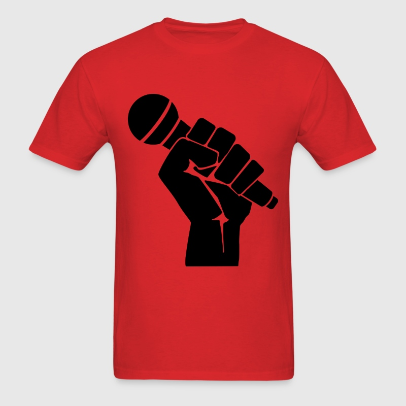 microphone in fist T-Shirts - Men's T-Shirt
