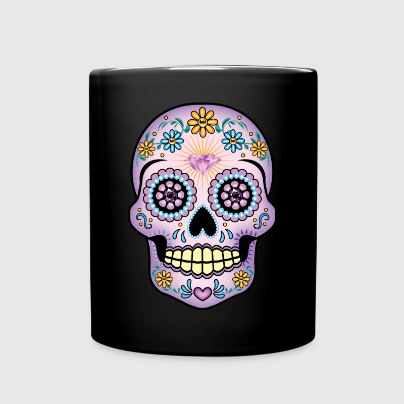 Purple Sugar Skull - Full Color Mug