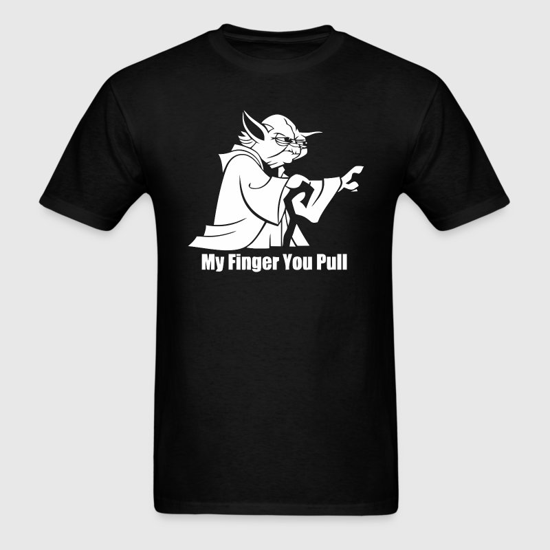 Funny star wars yoda pull my finger t-shirt - Men's T-Shirt