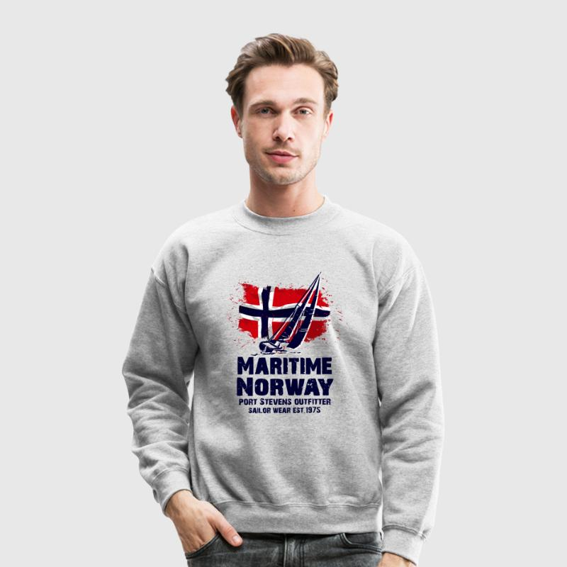 Maritime sailing - Norway flag - Vintage look Long Sleeve Shirts - Crewneck Sweatshirt