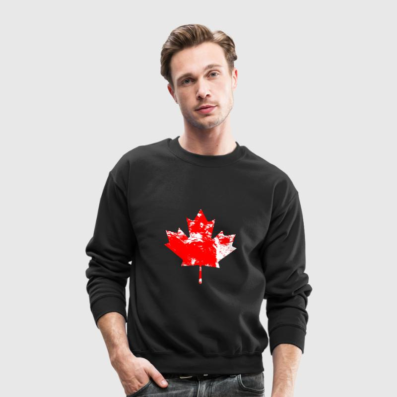 Canadian Maple Leaf - Vintage Look Long Sleeve Shirts - Crewneck Sweatshirt