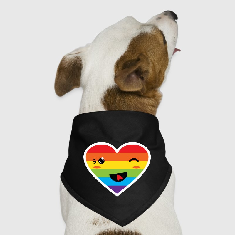 Kawaii Rainbow Heart LGBT Pride Other - Dog Bandana