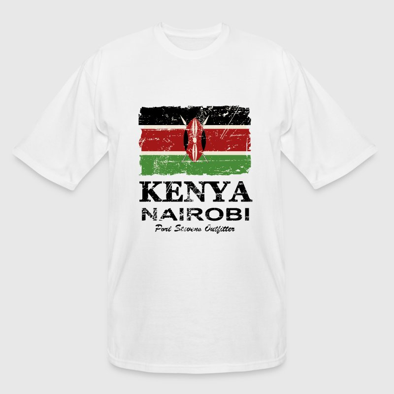 Kenya Flag - Vintage Look T-Shirts - Men's Tall T-Shirt