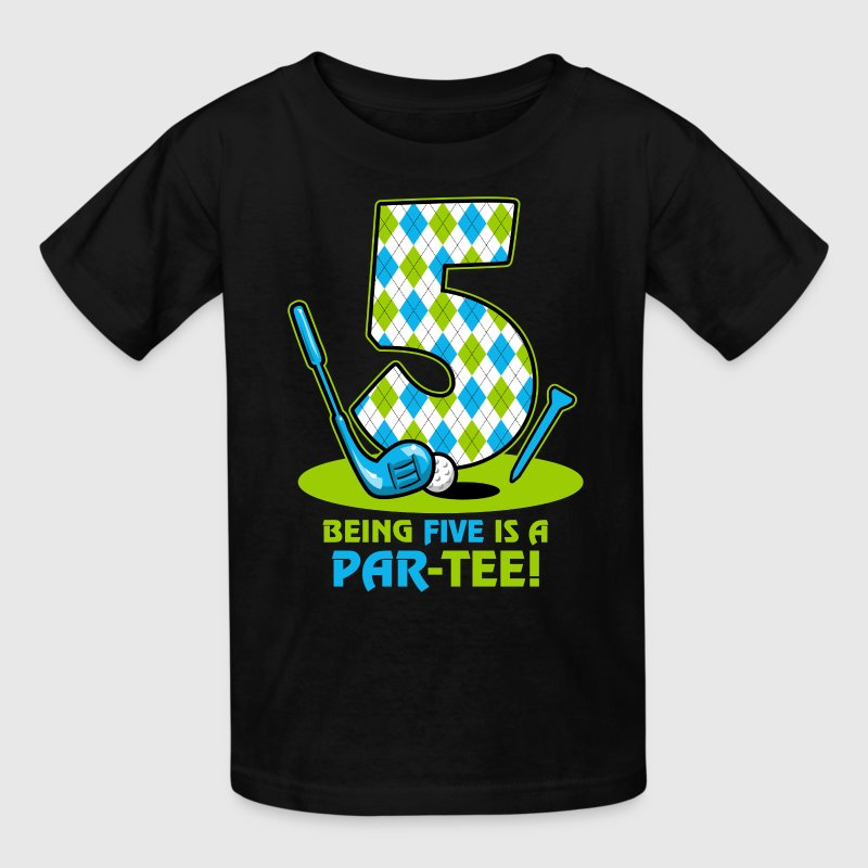 Golf Par-Tee 5th Birthday Kids' Shirts - Kids' T-Shirt