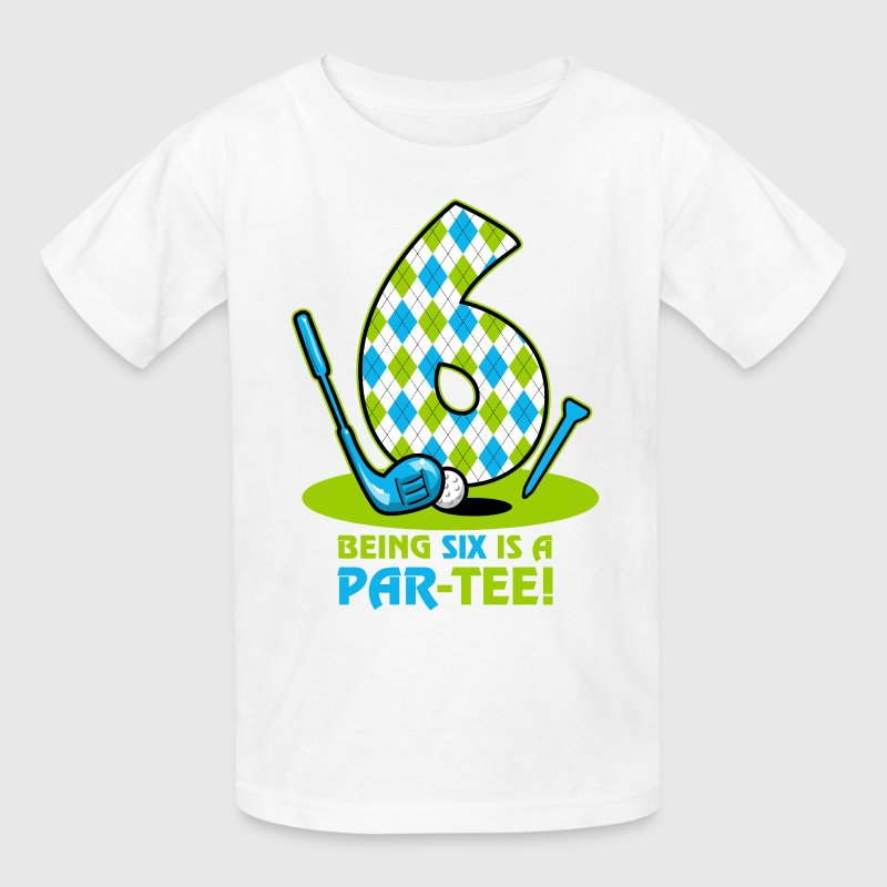 Golf Par-Tee 6th Birthday Kids' Shirts - Kids' T-Shirt