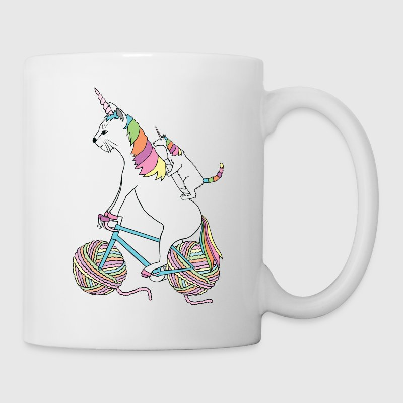 Cat Unicorn and Unicorn Cat Who Is Riding A Bike Mugs & Drinkware - Coffee/Tea Mug