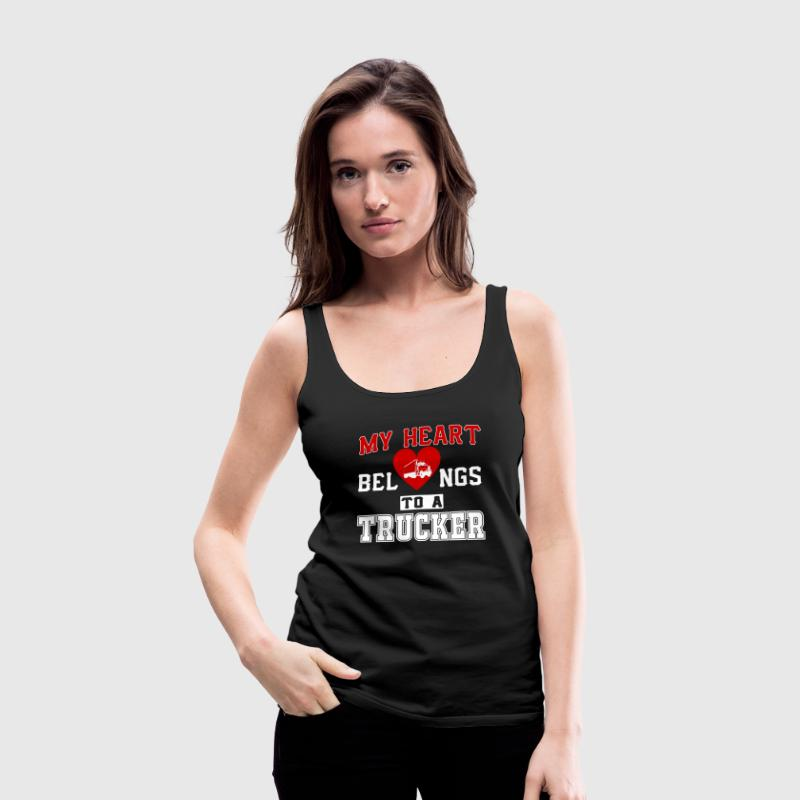 My heart belongs to a Trucker - Women's Premium Tank Top