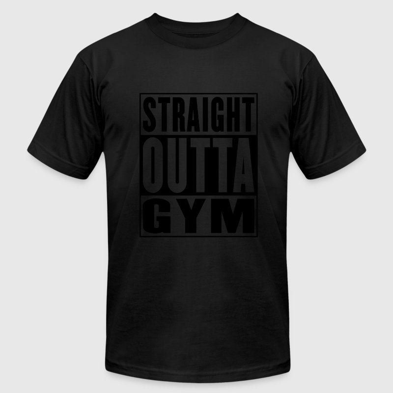 Straight Outta Gym Gold - Men's T-Shirt by American Apparel