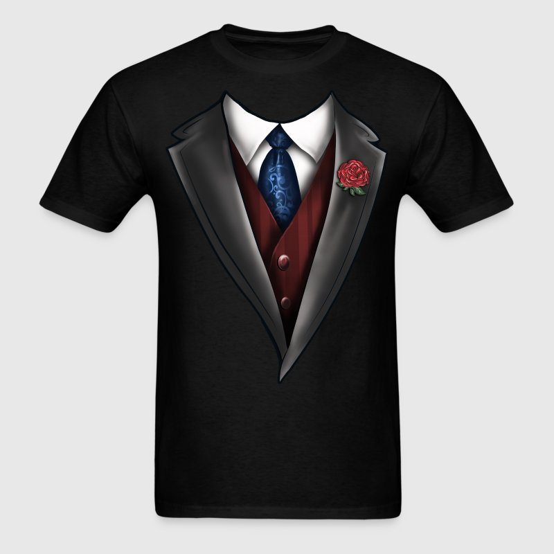 Tuxedo Tie Designs Tie blue T-Shirts - Men's T-Shirt