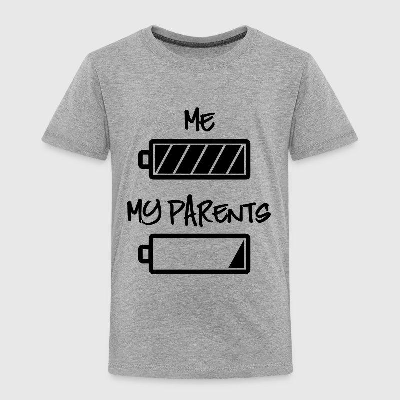 me and my parents - full and empty battery Baby & Toddler Shirts - Toddler Premium T-Shirt