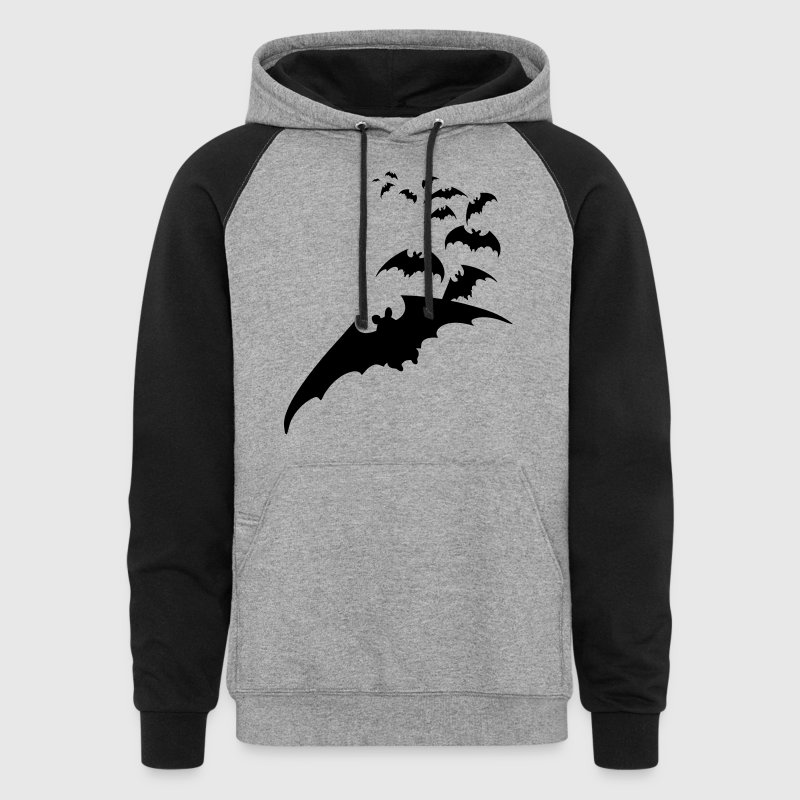 flying bats bat halloween scary creepy Hoodies - Colorblock Hoodie