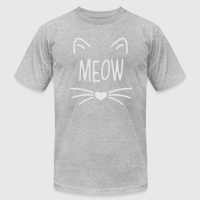 MEOW CAT FACE T-Shirts - Men's T-Shirt by American Apparel