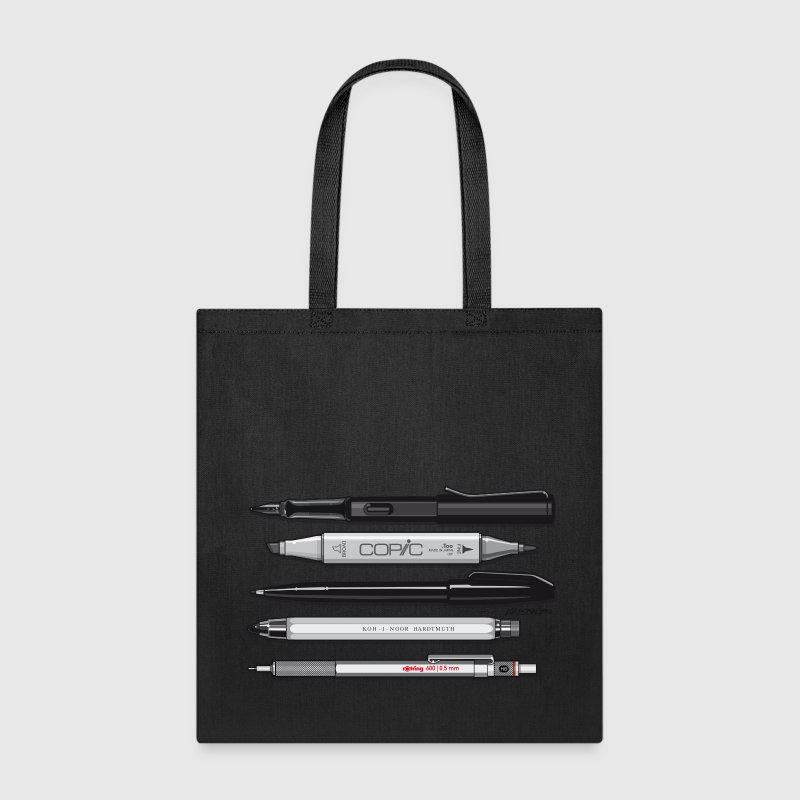 Pro Pens (Grey) Rotring 600, Lamy, Koh-I-Noor, Pen Bags & backpacks - Tote Bag