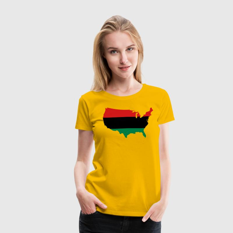 African American _ Red, Black & Green Colors Women's T-Shirts - Women's Premium T-Shirt