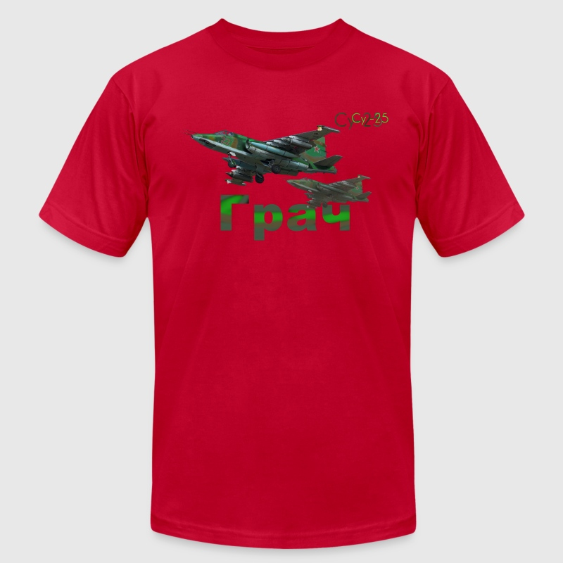 Sukhoi Su-25 T-Shirts - Men's T-Shirt by American Apparel