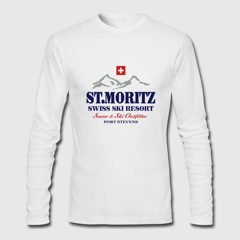 St. Moritz - Swiss flag Long Sleeve Shirts - Men's Long Sleeve T-Shirt by Next Level