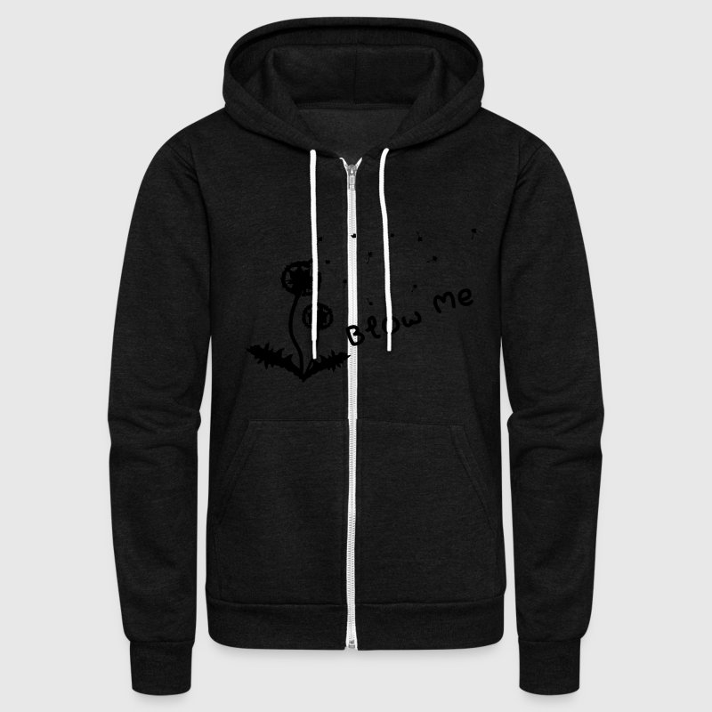 BLOW ME  Zip Hoodies & Jackets - Unisex Fleece Zip Hoodie by American Apparel