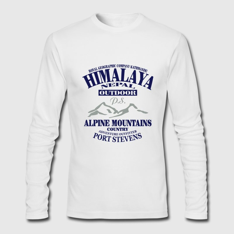 Himalaya - Nepal Long Sleeve Shirts - Men's Long Sleeve T-Shirt by Next Level