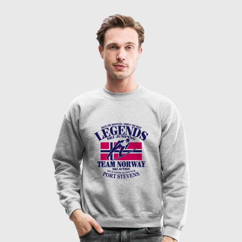 Norway Ski Jumping Long Sleeve Shirts - Crewneck Sweatshirt