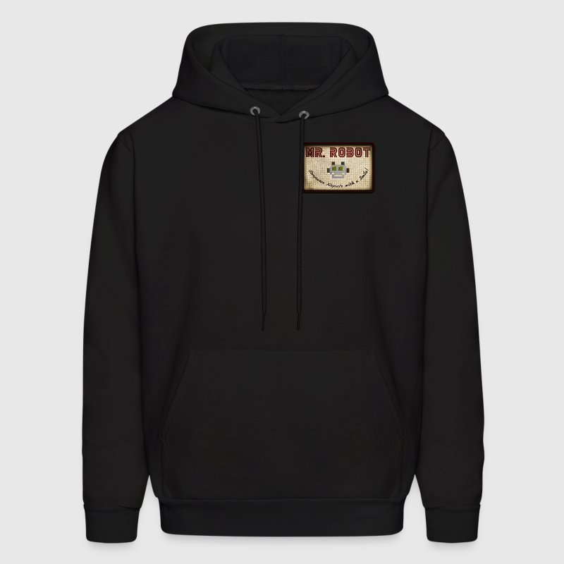 mr robot patch | fsociety Hoodies - Men's Hoodie