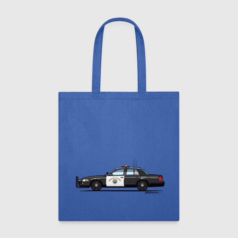 California Highway Patrol Ford Crown Victoria Poli - Tote Bag