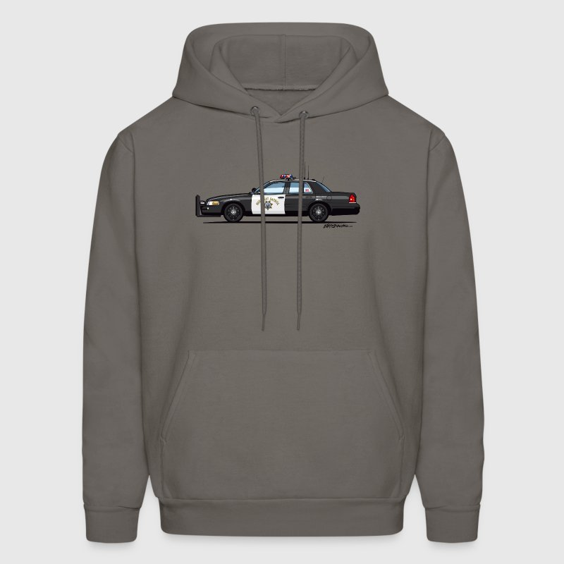 California Highway Patrol Ford Crown Victoria Poli - Men's Hoodie