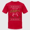 UGLY HOLIDAY SWEATER LET'S GET BLITZEN T-Shirts - Men's T-Shirt by American Apparel
