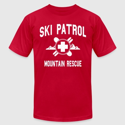 Ski Patrol - Mountain Rescue (vintage look) - Men's T-Shirt by American Apparel