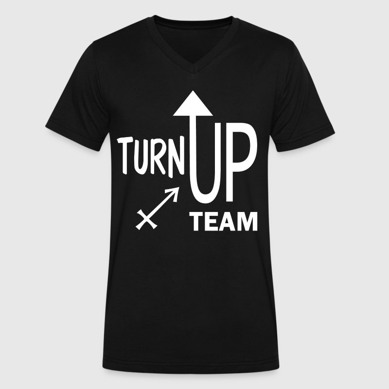Sagittarius turnup copy.png T-Shirts - Men's V-Neck T-Shirt by Canvas