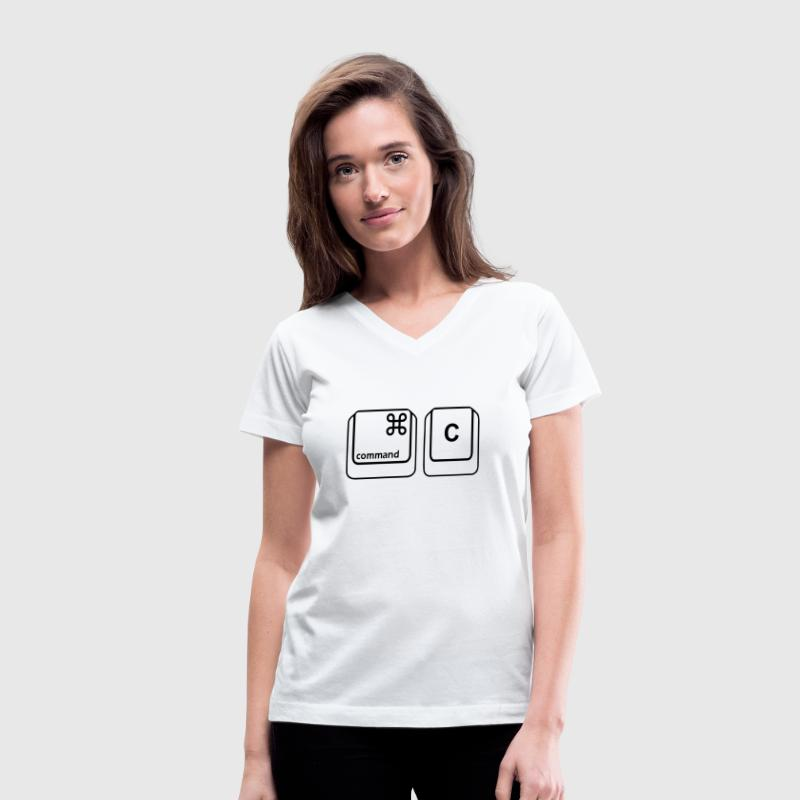 Command C T-Shirts - Women's V-Neck T-Shirt
