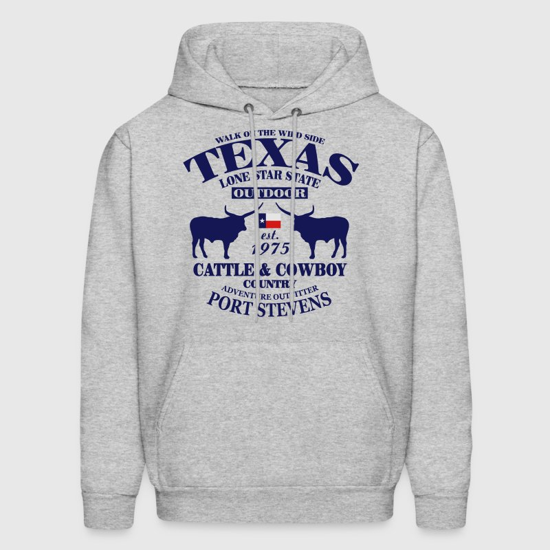 Texas Bull - The Lone Star State Hoodies - Men's Hoodie