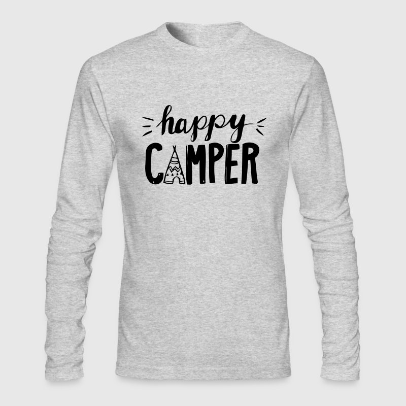 HAPPY CAMPER Long Sleeve Shirts - Men's Long Sleeve T-Shirt by Next Level
