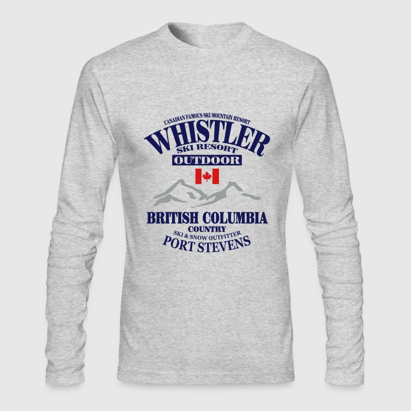 Whistler - Canada Ski Resort Long Sleeve Shirts - Men's Long Sleeve T-Shirt by Next Level