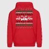 Back to the Future Ugly Christmas Sweater Hoodies - Men's Hoodie
