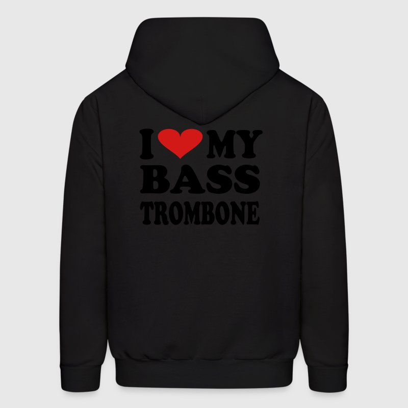 I Love My Bass Trombone - Men's Hoodie