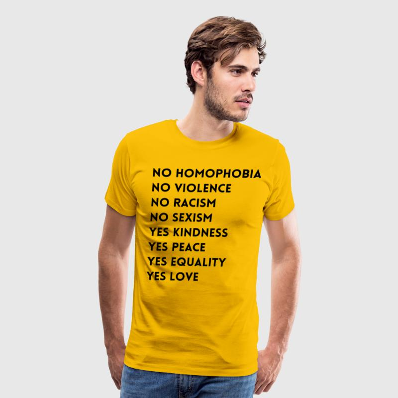 No Homophobia No Violence - Men's Premium T-Shirt