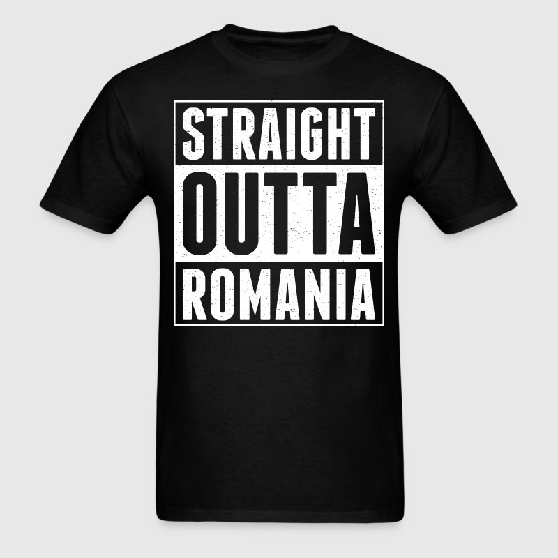 Straight Outta Romania - Men's T-Shirt