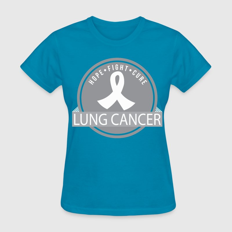 Lung Cancer Hope Fight Cure Women's T-Shirts - Women's T-Shirt