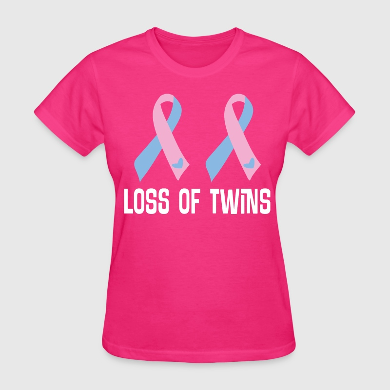 Loss Of Twins Infant Ribbon Awareness Women's T-Shirts - Women's T-Shirt