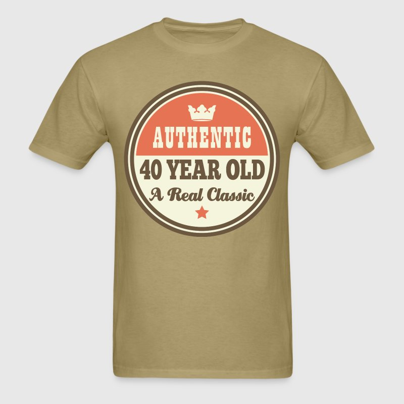 40th Birthday Funny Vintage Crown T-Shirts - Men's T-Shirt