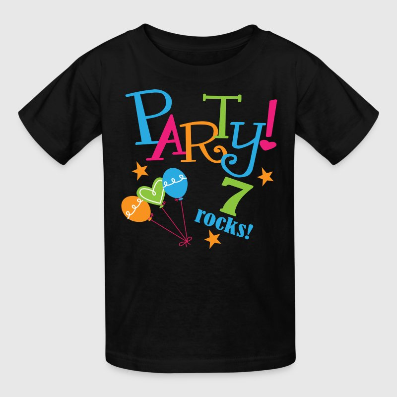 7th Birthday Party 7 Rocks Kids' Shirts - Kids' T-Shirt