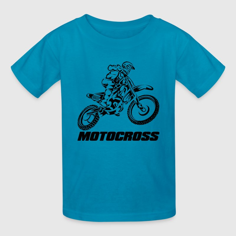 Motocross Logo Black Kids' Shirts - Kids' T-Shirt